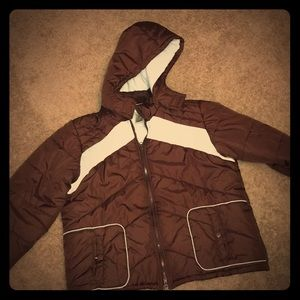 Jackets & Blazers - Size xl vintage inspired winter coat, brown blue